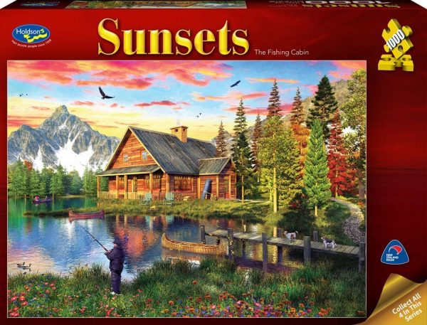 Sunsets - At The Fishing Cabin 1000 Piece Jigsaw Puzzle - Holdson