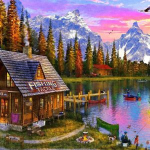 Sunsets - At the Fishing Hut 1000 Piece Jigsaw Puzzle - Holdson