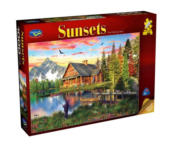 Sunsets - The Fishing Cabin 1000 Piece Jigsaw Puzzle - Holdson
