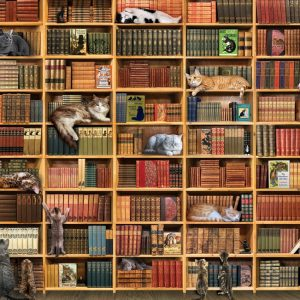 The Cat Library 1000 Piece Jigsaw Puzzle - Cobble Hill