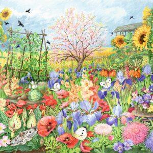 The Sunflower Garden 1000 Piece Jigsaw Puzzle - Falcon de luxe