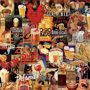 Vintage Beer Collage 1000 Piece Jigsaw Puzzle - Educa