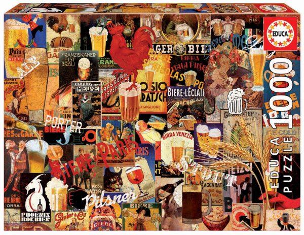 Vintage Beer Collage 1000 Piece Jigsaw Puzzle - Educa