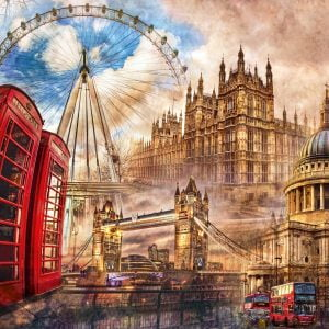 Vintage London 1500 Piece Jigsaw Puzzle - Clementoni
