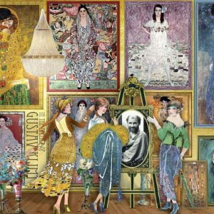 Works of Art - Gustav Klimt Gallery 1000 Piece Jigsaw Puzzle - Holdson