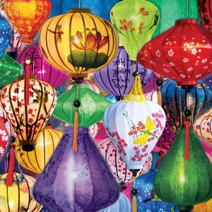 Asian Lanterns 1000 Piece Jigsaw Puzzle - Eurographics
