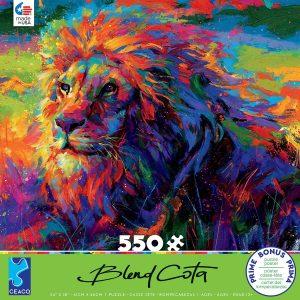 Blend Cota - Lion Pride 550 Piece Jigsaw Puzzle - Ceaco