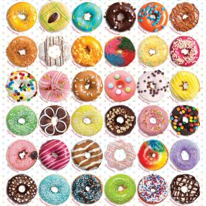 Donuts 1000 Piece Jigsaw Puzzle - Eurographics