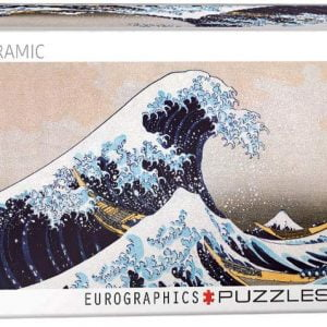 Great Wave of Kanagawa Panorama 1000 Piece Jigsaw Puzzle - Eurographics