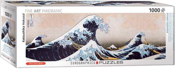 Great Wave of Kanagawa Panorama 1000 Piece Jigsaw Puzzle - Eurographics