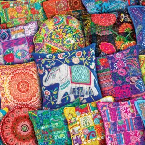 Indian Pillows 1000 Piece Jigsaw Puzzle - Eurographics