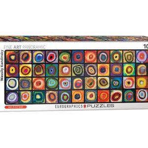 Kandinsky - Colour Study of Squares 1000 Piece Panoramic Jigsaw Puzzle - Eurographics