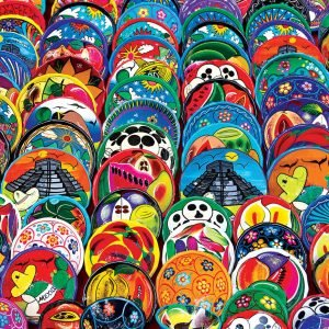 Mexican Ceramic Plates 1000 Piece Jigsaw Puzzle - Eurographics