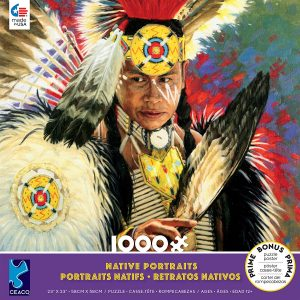 Native Portraits - Lighting 1000 Piece Jigsaw Puzzle - Ceaco