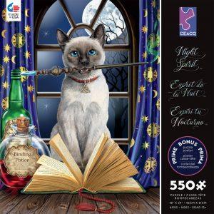 Night Spirit - Hokus Pokus 550 Piece Jigsaw Puzzle - Ceaco