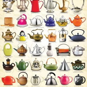 Teapots 1000 Piece Jigsaw Puzzle - Eurographics