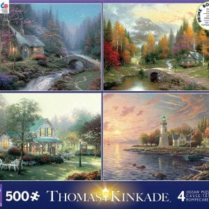 Thomas Kinkade 4-in-1 Multi Pack Jigsaw Puzzle - Ceaco