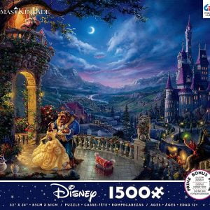 Thomas Kinkade - Beauty and the Beast Dancing in the Moonlight 1500 Piece Jigsaw Puzzle