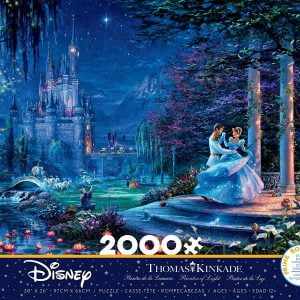Thomas Kinkade - Cinderella Dancing in the Starlight 2000 Piece Jigsaw Puzzle - Ceaco