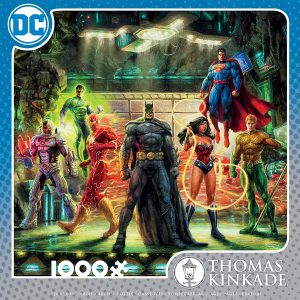 Thomas Kinkade - DC Comics - The Justice League 1000 Piece Jigsaw Puzzle - Ceaco