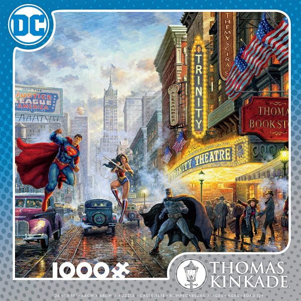 Thomas Kinkade - DC Comics - The Trinity 1000 Piece Jigsaw Puzzle - Ceaco