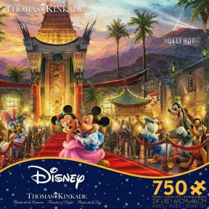 Thomas Kinkade Disney - Mickey & Minnie Hollywood 750 Piece Jigsaw Puzzle - Ceaco