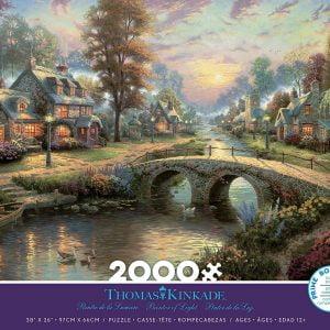 Thomas Kinkade - Sunset on Lamplight Lane 2000 Piece Jigsaw Puzzle - Ceaco