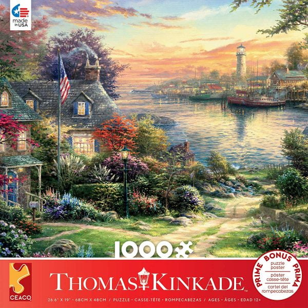 Thomas Kinkade - The New England Harbor 1000 Piece Jigsaw Puzzle - Ceaco