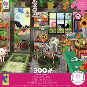 Tracy Flickinger - Garden Shed 300 Piece Jigsaw Puzzle - Ceaco