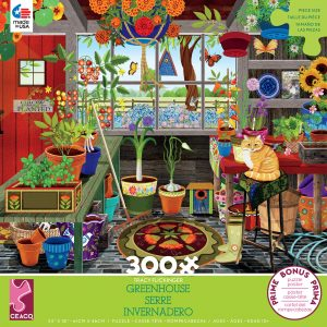 Tracy Flickinger - Greenhouse 300 Piece Jigsaw Puzzle - Ceaco