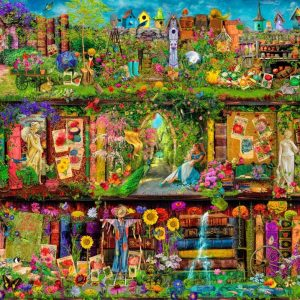 Treta yo Shelf - The Garden Shelf 1000 Piece Jigsaw Puzzle - Holdson