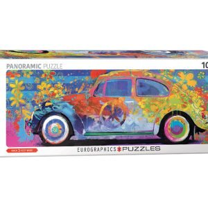 VW Beetle Splash Panoramic 1000 Piece Jigsaw Puzzle - Eurographics