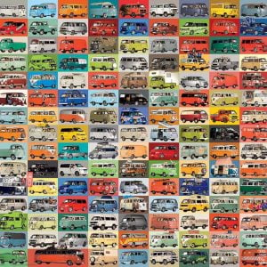 VW Groovy Bus 2000 Piece Jigsaw Puzzle - Eurographics