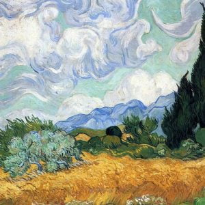 Van Gogh - Wheat Field with Cypresses 1000 Piece Jigsaw Puzzle - Eurographics