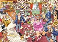 Wasgij Original 29 - Catching Wedding Fever 1000 Piece Jigsaw Puzzle - Holdson