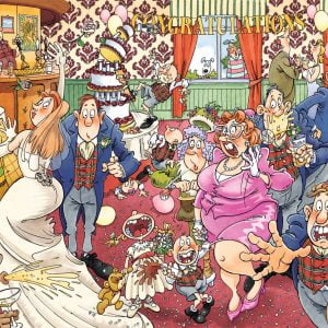 Wasgij Original 29 - Catching Wedding Fever 1000 Piece Jigsaw Puzzle - Holdson