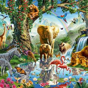 Adventures in the Jungle 1000 Piece Jigsaw Puzzle - Ravensburger