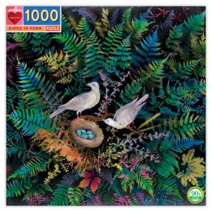 Birds in Fern 1000 Piece Jigsaw Puzzle - eeBoo