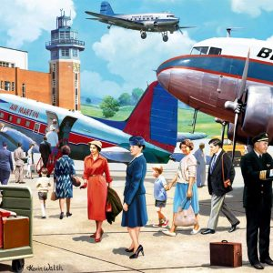 Boarding the Douglas DC3 500 Piece Jigsaw Puzzle - Falcon De Luxe