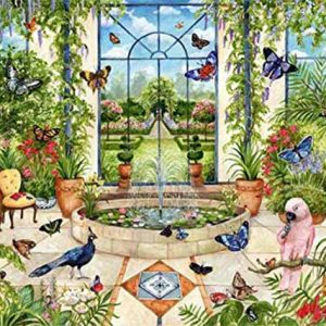 Butterfly Conservatory 1000 Piece Jigsaw Puzzle - Falcon de Luxe