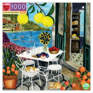 Cats in Positano 1000 Piece Jigsaw Puzzle - eeBoo