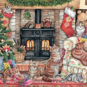Christmas Cats 500 Piece Jigsaw Puzzle - Falcon de Luxe