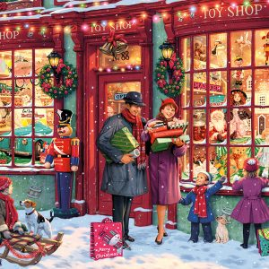 Christmas Toy Shop 2000 Piece Jigsaw Puzzle - Gibsons