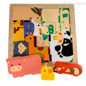 Chunky Farm Animal Puzzle - Kiddie Connect