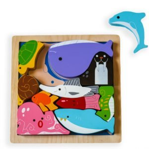 Chunky Sea Creatures Puzzle - Kiddie Connect