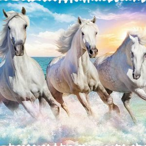Crazy Shapes - Galloping among the Waves 600 Piece Jigsaw Puzzle - Trefl