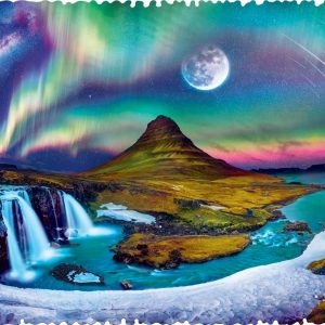 Crazy Shapes - Aurora Over Iceland 600 Piece Jigsaw Puzzle - Trefl