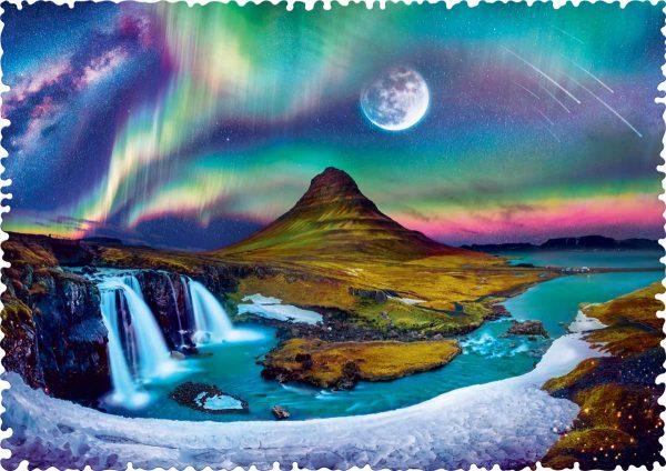 Crazy Shapes - Aurora Over Iceland 600 Piece Jigsaw Puzzle - Trefl