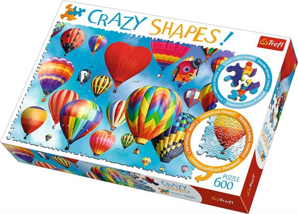 Crazy Shapes - Colourful Balloons 600 Piece Jigsaw Puzzle - Trefl