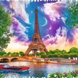 Crazy Shapes - Sky Over Paris 600 Piece Jigsaw Puzzle - Trefl